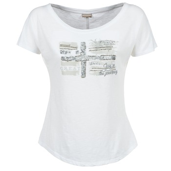 Textiel Dames T-shirts korte mouwen Napapijri SINK Wit