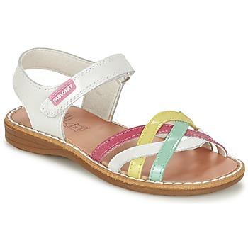 Schoenen Meisjes Sandalen / Open schoenen Pablosky ATINA Wit / Multi