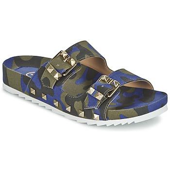 Schoenen Dames Leren slippers Ash UBUD Blauw / Camouflage