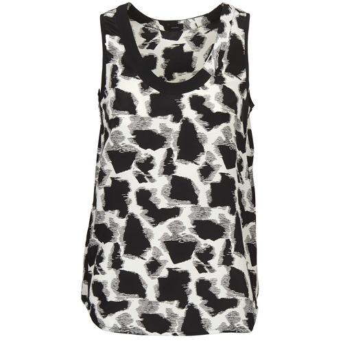 Textiel Dames Mouwloze tops Joseph DEBUTANTE Zwart / Wit / Grijs