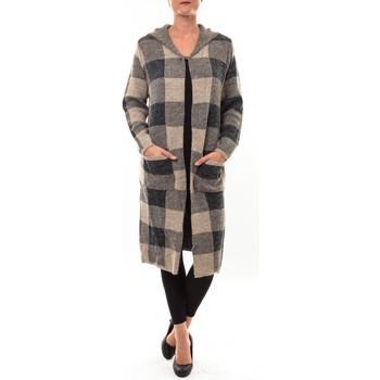 Textiel Dames Vesten / Cardigans De Fil En Aiguille Cardigan long K100 marron Bruin
