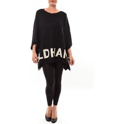 Textiel Dames Truien De Fil En Aiguille Poncho DH3122 noir Zwart