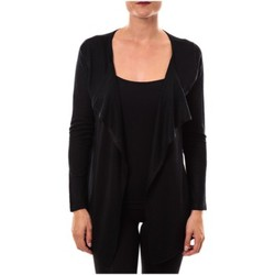 Textiel Dames Truien De Fil En Aiguille gilet 2020 noir Zwart