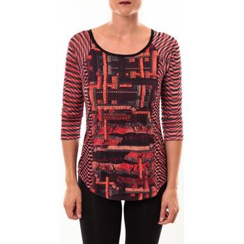 Textiel Dames T-shirts met lange mouwen Custo Barcelona Top Eleon rouge Rood