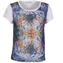 Textiel Dames T-shirts korte mouwen DDP PORIX Multicolour