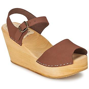 Schoenen Dames Sandalen / Open schoenen Le comptoir scandinave  Bruin