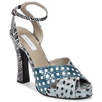 Schoenen Dames Sandalen / Open schoenen Marc Jacobs Elap Blauw / Wit