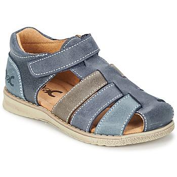 Schoenen Jongens Sandalen / Open schoenen Citrouille et Compagnie ZIDOU Marine / Grijs