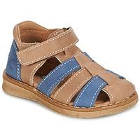 Schoenen Jongens Sandalen / Open schoenen Citrouille et Compagnie FRINOUI Bruin / Blauw