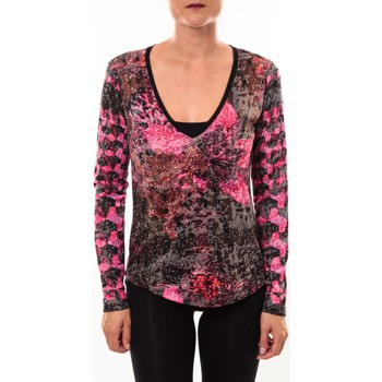 Textiel Dames T-shirts met lange mouwen Custo Barcelona Top Bambi Luxurious rose Roze