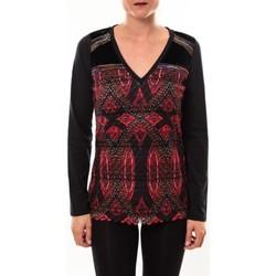 Textiel Dames T-shirts met lange mouwen Custo Barcelona Top Bambi Sweek noir Zwart