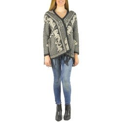 Textiel Dames Vesten / Cardigans Barcelona Moda Gilet en laine 71171502 noir Zwart