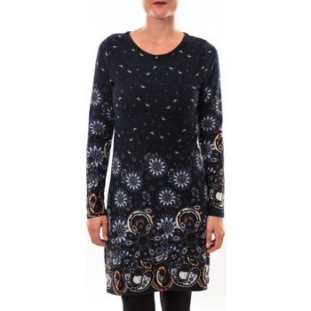 Textiel Dames Korte jurken Barcelona Moda Robe pull 71565003 marine Blauw