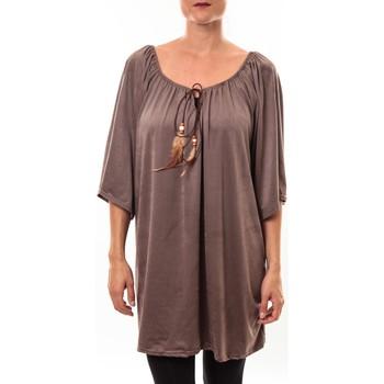 Textiel Dames Tunieken Nina Rocca Tunique Emilie taupe Bruin