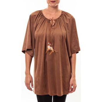 Textiel Dames Tunieken Nina Rocca Tunique Emilie camel Bruin