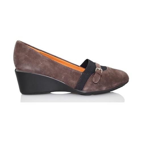 Schoenen Dames pumps Geox NEW TAYLOR MOCASIN CUÑA MARRON