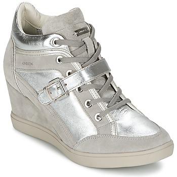 Schoenen Dames Hoge sneakers Geox ELENI C Zilver