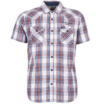 Textiel Heren Overhemden korte mouwen Petrol Industries SHIRT SS Wit / Rood