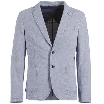 Textiel Heren Jasjes / Blazers Benetton CHEVOTU Blauw