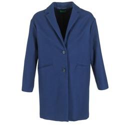 Textiel Dames Mantel jassen Benetton AGRETE Marine