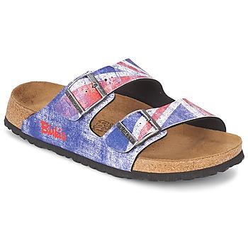 Schoenen Heren Leren slippers Birki's SANTIAGO Flag / Unie / Jack