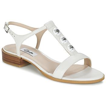 Schoenen Dames Sandalen / Open schoenen Clarks BLISS SHIMMER Wit