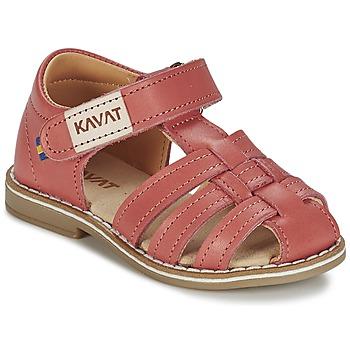 Schoenen Meisjes Sandalen / Open schoenen Kavat FORSVIK Koraal
