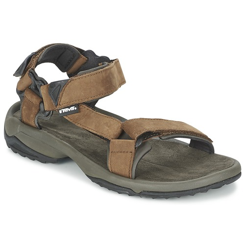 Schoenen Heren Outdoorsandalen Teva TERRA FI LITE LEATHER Bruin
