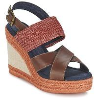 Schoenen Dames Sandalen / Open schoenen Napapijri BELLE Bruin / Donker / Rood