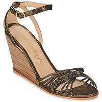 Schoenen Dames Sandalen / Open schoenen Petite Mendigote COLOMBE Zwart / Goud
