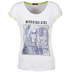 Textiel Dames T-shirts korte mouwen La City TMCD3 Wit
