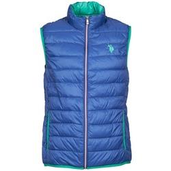 Textiel Heren Dons gevoerde jassen U.S Polo Assn. USPA LT PADDED VEST Blauw