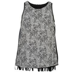 Textiel Dames Mouwloze tops Color Block PINECREST Grijs / Zwart / Wit