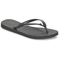 Schoenen Dames Teenslippers Havaianas SLIM CRYSTAL GLAMOUR SWAROVSKI Zwart