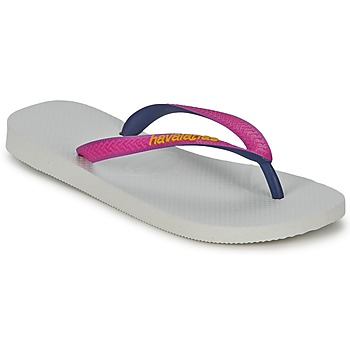 Schoenen Dames Teenslippers Havaianas TOP MIX Wit / Roze