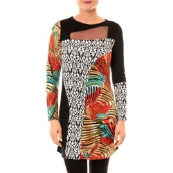 Textiel Dames Korte jurken Bamboo's Fashion Robe Zoulou BW621 noir Zwart