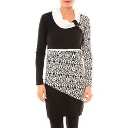 Textiel Dames Korte jurken Bamboo's Fashion Robe Zoulou BW616 blanc Wit