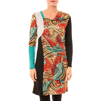 Textiel Dames Korte jurken Bamboo's Fashion Robe Sauvage BW620 noir Zwart