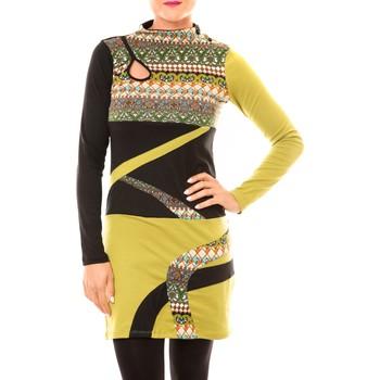 Textiel Dames Korte jurken Bamboo's Fashion Robe Tribal BW622 vert Groen