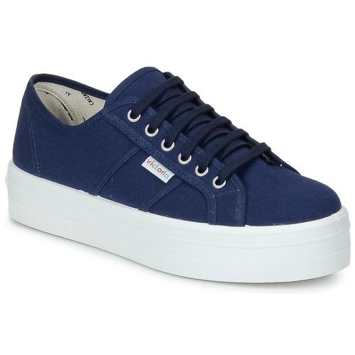Schoenen Dames Lage sneakers Victoria BLUCHER LONA PLATAFORMA Marine