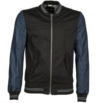 Textiel Heren Wind jackets Sisley 2ID2533A9 Zwart / Blauw