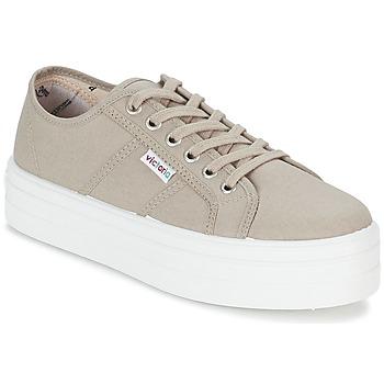 Schoenen Dames Lage sneakers Victoria BLUCHER LONA PLATAFORMA Beige
