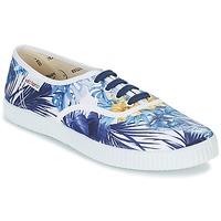 Schoenen Dames Lage sneakers Victoria INGLES FLORES Y CORAZONES Wit / Blauw