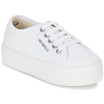 Schoenen Meisjes Lage sneakers Victoria BASKET LONA PLATAFORMA KIDS Wit
