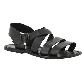 Schoenen Dames Sandalen / Open schoenen Gianluca - L'artigiano Del Cuoio 508 U NERO CUOIO nero