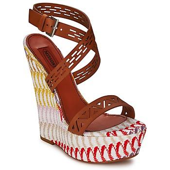 Schoenen Dames Sandalen / Open schoenen Missoni XM015 Bruin / Multi