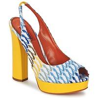 Schoenen Dames Sandalen / Open schoenen Missoni XM005 Geel / Blauw