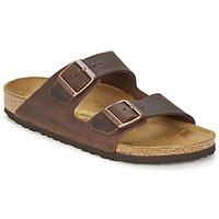 Schoenen Heren Leren slippers Birkenstock ARIZONA Bruin