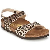 Schoenen Meisjes Sandalen / Open schoenen Birkenstock RIO Luipaard / Bruin