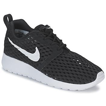 Schoenen Jongens Lage sneakers Nike ROSHE ONE FLIGHT WEIGHT BREATHE JUNIOR Zwart